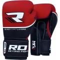 Боксерские перчатки RDX Quad Kore Red 14/16oz