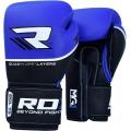 Боксерские перчатки RDX Quad Kore Blue 14oz