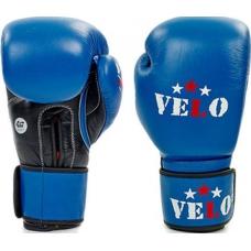 Боксерские перчатки Velo Ahsan Star Blue с лицензией AIBA