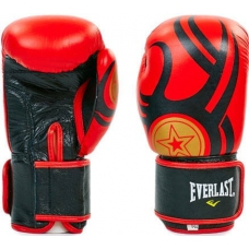 Боксерские перчатки кожа Everlast BO-6162-BK 10oz