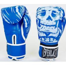 Боксерские перчатки Everlast Skull Blue 10oz