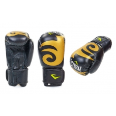 Перчатки боксерские кожаные на липучке Everlast BO-3630-BK