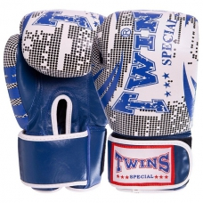 Перчатки боксерские кожаные TWINS VL-2066-B