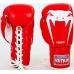 Боксерские перчатки на шнуровке кожа Venum Giant VL-5786-R
