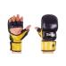 Перчатки гибридные ММА кожаные Matsa ME-2011-BK