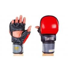 Перчатки гибридные ММА кожаные Matsa ME-2011-R
