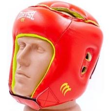 Шлем боксерский детский кожаный MATSA MA-4002-R