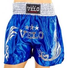 Шорты для тайского бокса Velo Blue