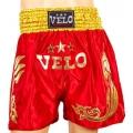Шорты для тайского бокса Velo Red (XL)