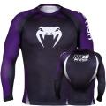 Рашгард Venum No Gi Black/Purple (М, L)