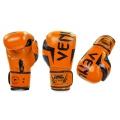 Боксерские перчатки Venum Elite Orange (replika, кожа)