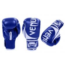 Боксерские перчатки Venum Challenger 2.0 Blue (replika, кожа)