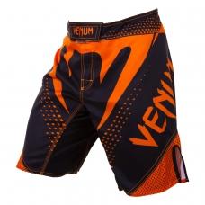 Шорты для единоборств Venum Hurricane Black/Neo Orange (replika)