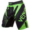 Шорты для единоборств Venum Hurricane Black/Neo Green (XL)