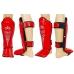 Защита голени и стопы Everlast Red (кожа)