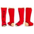 Защита голени и стопы Zelart Neoprene Red (XL)