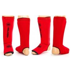 Защита голени и стопы Zelart Neoprene Red